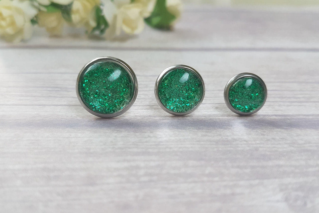 jewelry earrings round color silver cz stud zdc e sterling bling studs birthstone emerald green