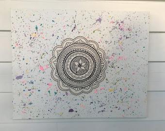 Mandala Splatter Painting