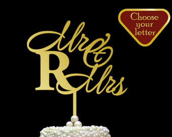 Letter R cake topper gold, Initial Cake Topper, Cake Toppers Single Letter, Monogram Cake Topper, Cake Topper Wedding, R Cake Topper, CT#046