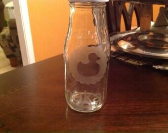 Rubber ducky milk bottle