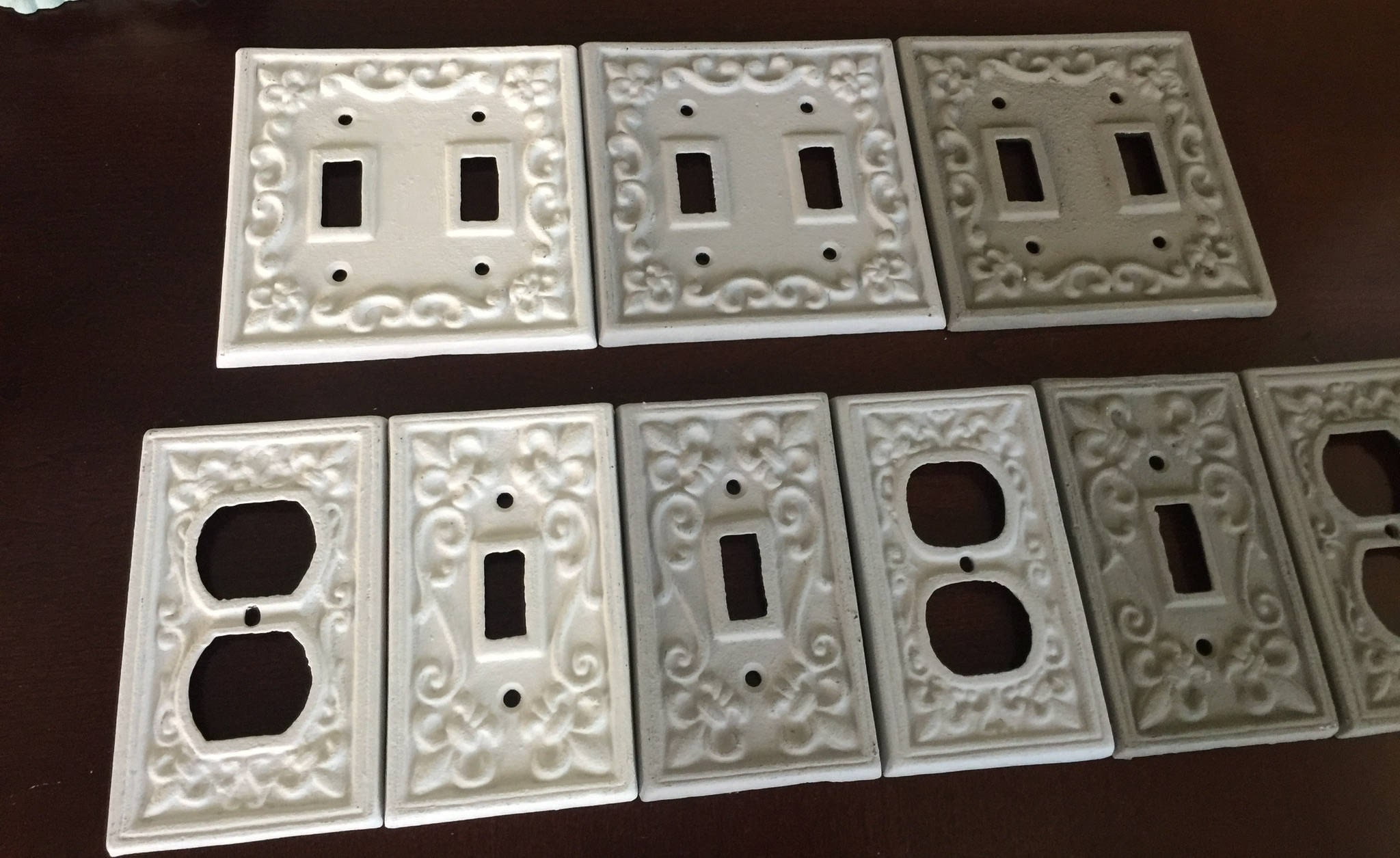 On Sale Cast Iron Switch Plate Cover Fleur De Lis Custom