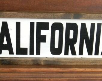 california handmade woodsign