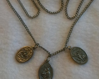 Italian Made Traditional Catholic Reversible Medals