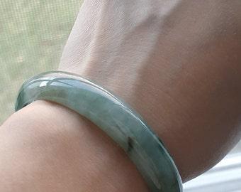 Vintage Natural Genuine A Jadeite Jade Green Bangle