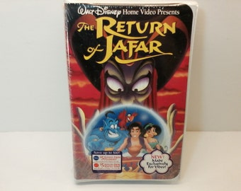 The Return of Jafar VHS Movie Tape Sequel to Disney's Aladdin Still Sealed Unopened
