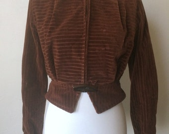 Late 30s Brown Deco Jacket