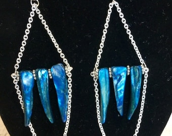Shell Spike chain earrings