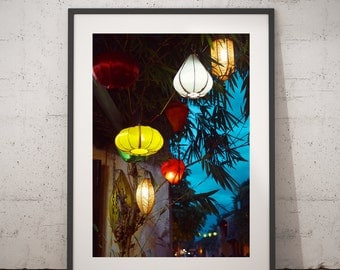 Lanterns, Paper + Silk Lanterns, Art prints, Photography, Wall Decor