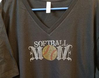 Softball/BlingSoftball Mom t-shirt