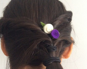 Rolled Rose Hair Clip