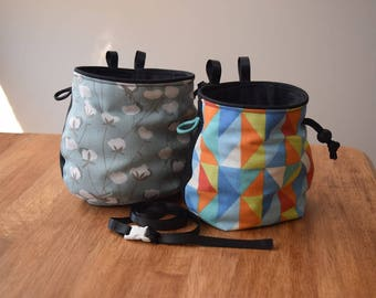 Large or Small Canvas Chalk Bag with Belt