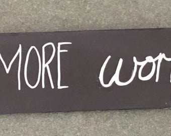 Live More Worry Less Hand Lettered Wall Art