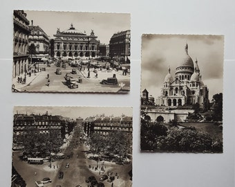 Vintage postcards of Paris
