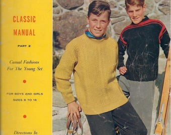 Spinnerin Yarn Craft Magazine Classic Manual Part II for Boys and Girls -1965