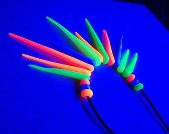 Psy trance goa necklace neon UV reactive!