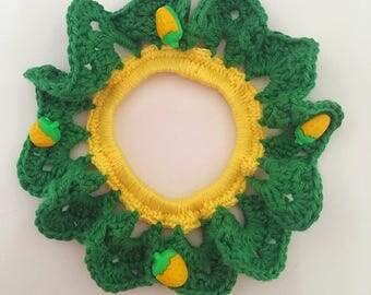 The handmade crochet scrunchie