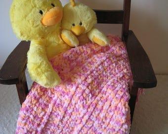 Sherbert Style Baby Blanket with Fringe