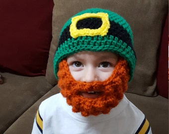 St. Patrick's Day Bearded Leprechaun Hat