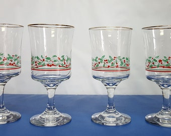 Arby's Christmas Glasses 1986