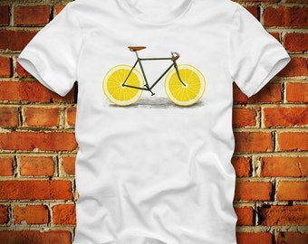 BOARDRIPPAZ Fixed Gear T SHIRT Lemon Wheels Retro Vintage Fixie Bicycle Bike Race Bike Messenger Mountainbike Fixed Gear Shirt Racing Bike