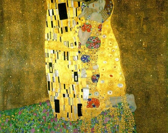 Oil Painting Reproduction in Museum Quality--Gustav Klimt The Kiss