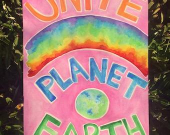 Unite Planet Earth - Custom Painting