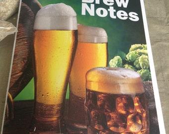 Homebrew beer journal log book notebook