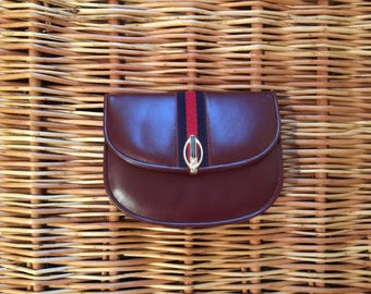 Vintage leather purse / small handbag