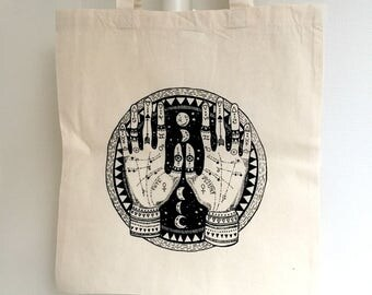 Tote bag hand COSMIC - 100% cotton screenprint