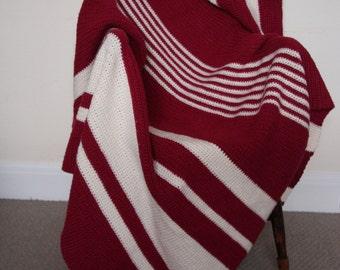 Hand Crocheted chunky blanket/throw.