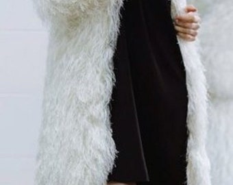 """Кардиган (шубка) из пряжи """"травка"""" ( cardigan (coat) of yarn """"grass"""" )"""