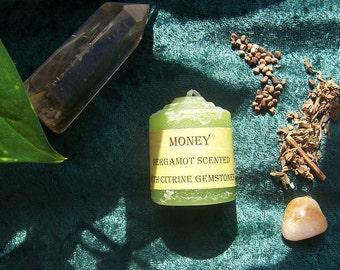 Money Meditation Candle