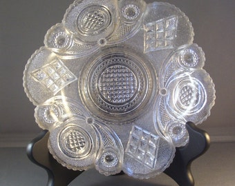 Old Heavy Cut Glass Dish