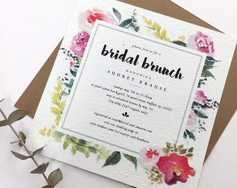 Hand-painted Bridal Shower Invitation