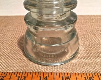 Vintage Clear Glass Insulator