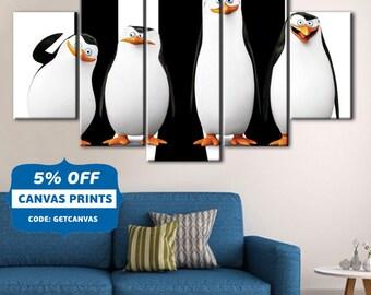 Penguins of Madagascar, Madagascar canvas, Madagascar Wall Art, Madagascar print, Penguins print, Penguins canvas, Penguins Wall Art