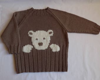 Knitted Baby Sweater Baby Clothes Bear Merino Wool Jumper Baby Knitwear Toddler Boy Clothes Crochet Baby Sweater Winter Baby Clothes Boy