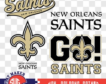 New Orleans Saints SVG, Saints Football Clipart, New Orleans Saints  Monogram, Orleans Silhouette, Screen Printing, Play_026