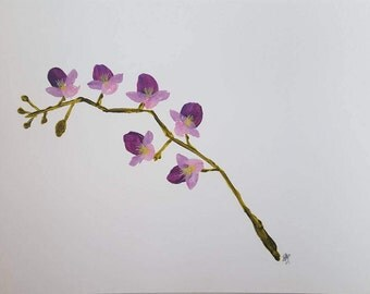 3 Art Greeting cards - Purple Orchids
