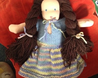 Waldorf/steiner formed doll (large) made to order