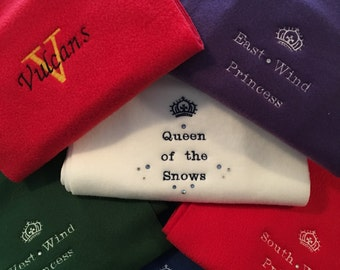 Personalized Scarfs and Mittens