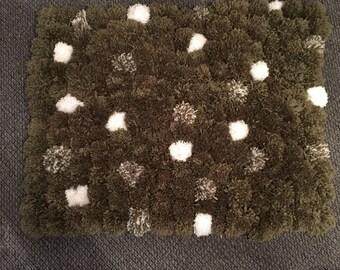 Handmade Pom Pom rug