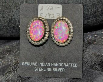 Opal and Sterling Earrings