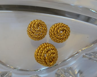 Vintage Copper Rope Buttons