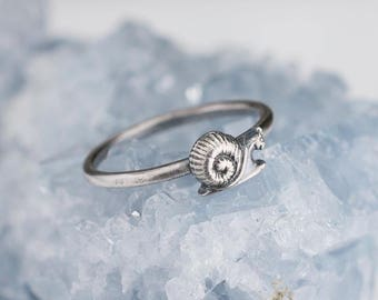 Sterling Silver Snail Ring Solid .925 Snail Rings Custom Sizes