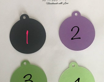 Tags / Favor Tags / Candy Bar Tags / Price Tags / Gift tags / Decorative tags / Wedding Tags / Labels / Black Tags / Purple Tags/ Green Tags