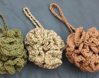 Crochet Loofah Bath Puff Shower Pouf Spa Accessory