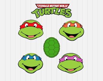 Teenage Mutant Ninja Turtles Svg - INSTANT DOWNLOAD - 1-Dxf, Eps, Pdf, Png, Svg - Cricut - Silhouette