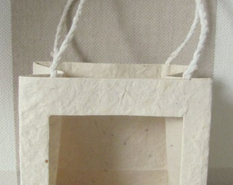 Gift bags from handmade paper, 10 x 10 x 6 cm