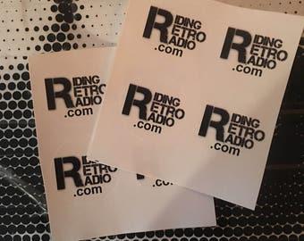 Super Tiny Riding Retro Radio Stickers